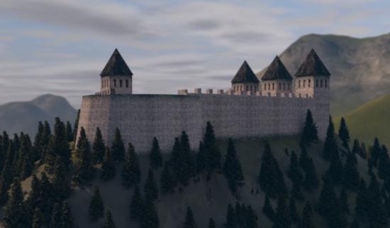 Pretpostavljeni izgled srednjovjekovnog utvrđenja Hodidjed, Sarajevo