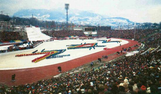 Detalj sa ceremonije otvorenja ZOI 84 Sarajevo