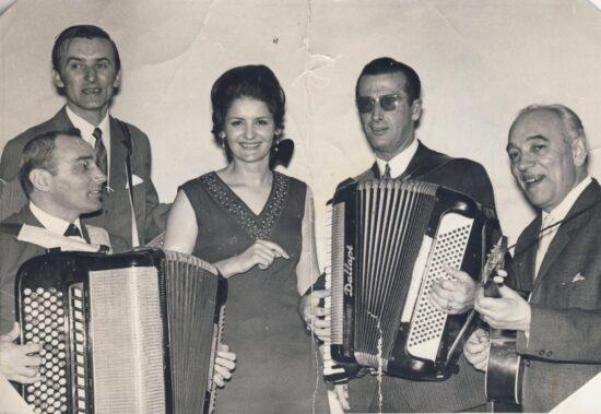 Ismet Alajbegović Šerbo, Jovica Petković, Lepa Lukić, Branko Pavlović na festivalu ILIDŽA 69