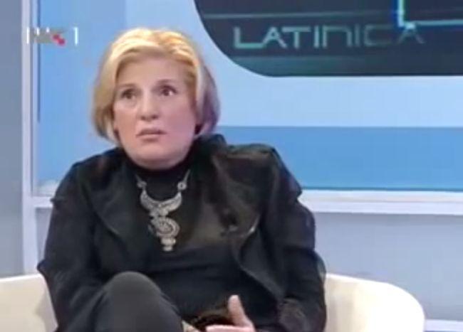 Tatjana Ljuić-Mijatović u emisiji Latinica