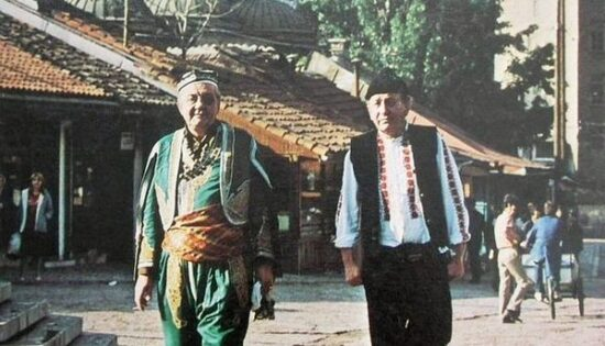 Rejhan Demirdžić i Rudi ALvađ kao Uzeir i Momo na Baščaršiji