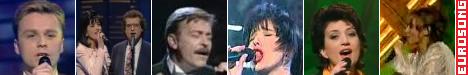Eurosong: Muhamed Fazlagić Fazla (1993), Alma i Dejan (1994), Davorin Popović (1995), Amila Glamočak (1996), Alma Čardžić (1997), Dino & Beatrice (1999)