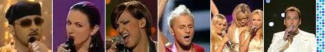 Eurosong: Nino Pršeš (2001), Maja Tatić (2002), Mija Martina (2003), Deen (2004), Feminem (2005), Hari Varešanović (2006)