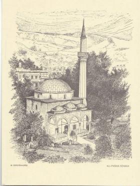Alipašina džamija (Sarajevo u grafici, Mirko J. Gesteinhofer)