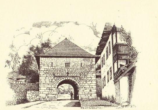 Kula u Širokcu (Sarajevo u grafici, Mirko J. Gesteinhofer)