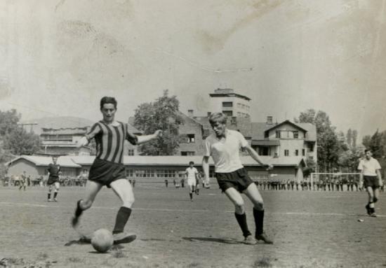 Srećko Badovinac u bijelom dresu FK Saobraćajac