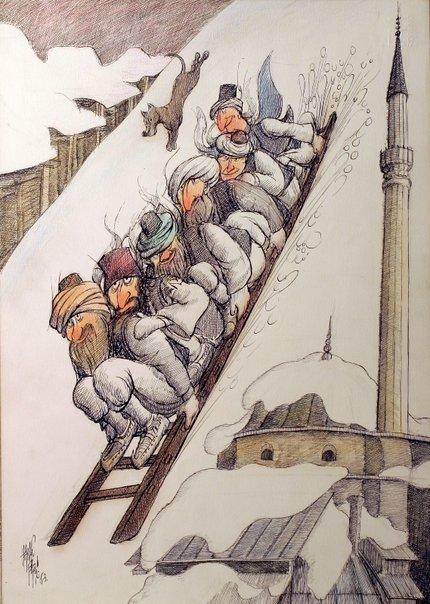 Sarajevski šesterac 1894 (karikatura: Hasan Fazlić)