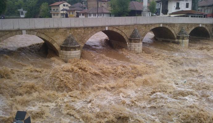 Nabujala Miljacka, Sarajevo
