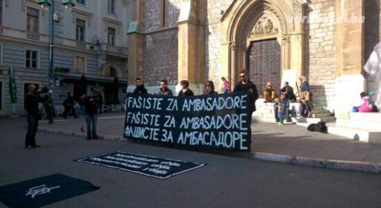 Fašisti za ambasadore (Sarajevo, 9. novembar 2014)