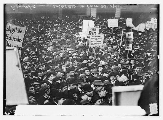 Protesti socijalista na njujorškom Union Square-u, 1 maja 1912. godine