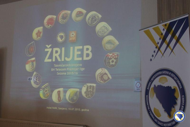 Žrijebanje parova fudbalske Premijer lige Bosne i Hercgovine za sezonu 2015/16