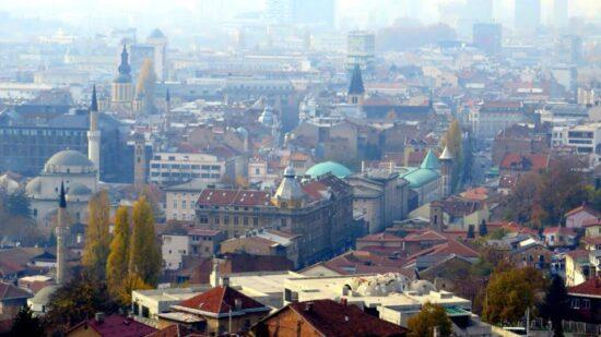 Stari grad, pogled sa Žute tabije (Sarajevo, 15. novembar 2015, foto: Mina Ćorić)