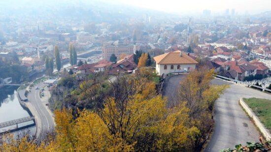 Tekija na Jekovcu, pogled sa Žute tabije (Sarajevo, 15. novembar 2015, foto: Mina Ćorić)