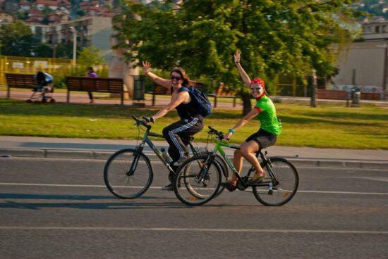 Sarajlije na biciklima