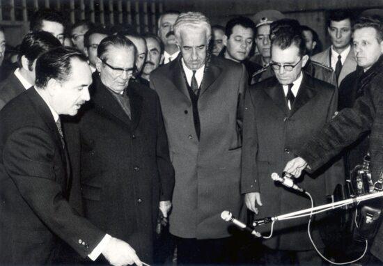 Josip Broz Tito i Džemal Bijedić na otvaranju Skenderije, 1969. godine