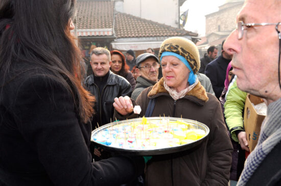 Rahatlokum na Baščaršijskom trgu (Sarajevo, 24. decembar 2015)