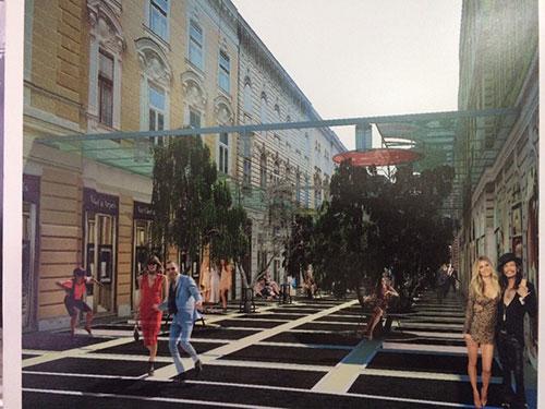 Projekt uređenja Strossmayerove ulice (januar 2016)