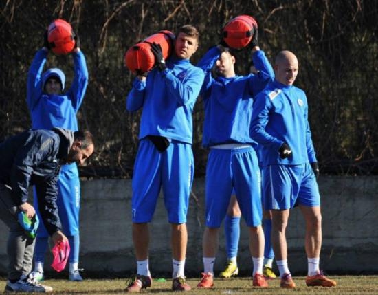 Fudbaleri sarajevskog FK Željezničara na pripremama
