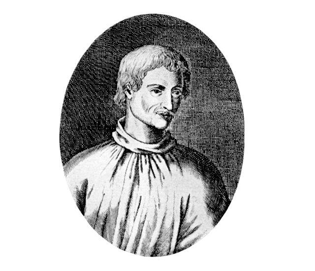 Najraniji crtež Giordana Bruna je rezbarija objavljena 1715. godine u Njemačkoj.