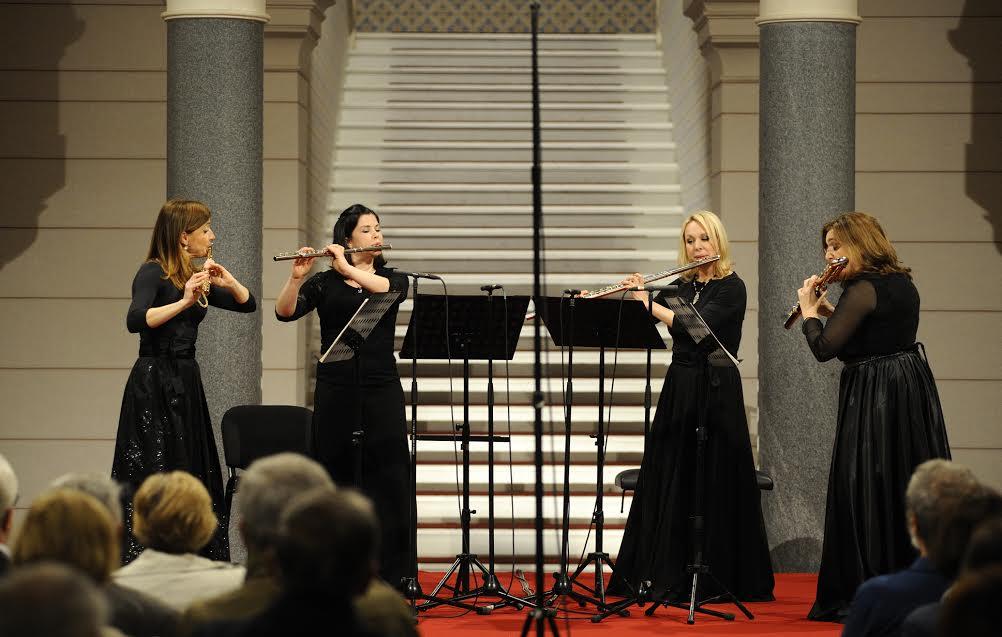 Kvartet flauta 4Syrinx u Vijećnici (Sarajevo, 11. maj 2016)