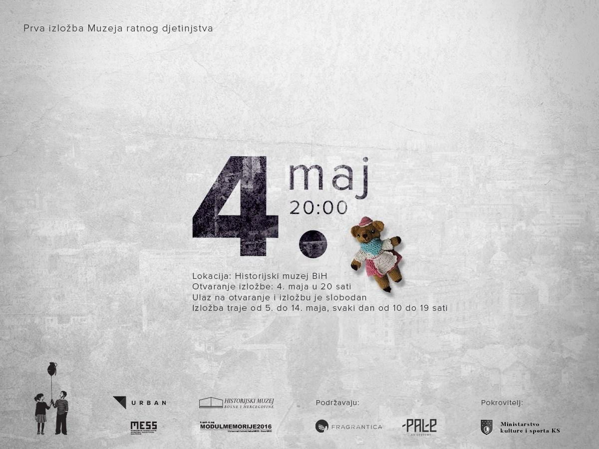 Plakat za Prvu izložba Muzeja ratnog djetinjstva