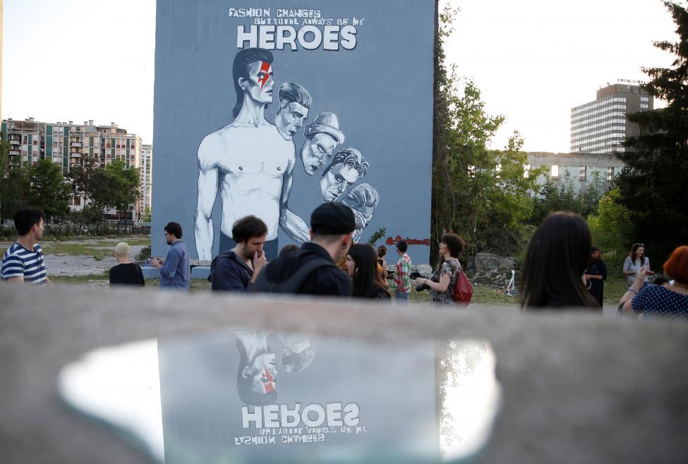 David Bowie mural, Sarajevo