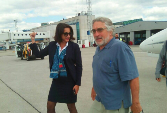 Robert De Niro na sarajevskom aerodromu (Sarajevo, 12. august 2016)