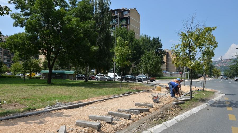 Izgradnja biciklističke staze u Opštini Novi Grad (Sarajevo, august 2016)