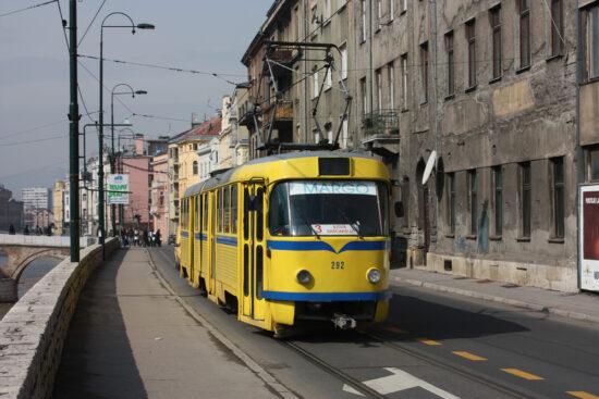 Sarajevski tramvaj na liniji broj 3 (Ilidža-Baščaršija)