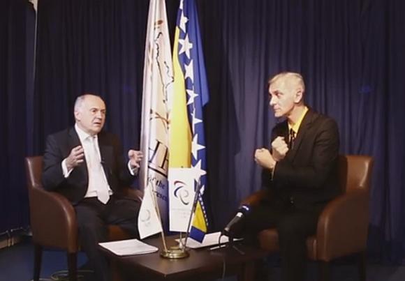 Valentin Inzko i Alen Popović tokom intervjua