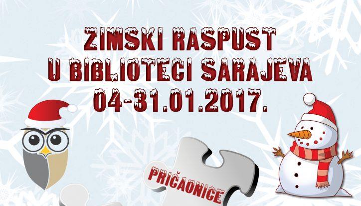 Zimski raspust u Biblioteci Sarajeva 2017