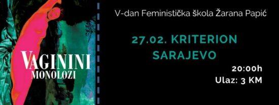 Vaginini monolozi (Sarajevo, 27. februar 2017.)