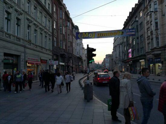 Ulica Maršala Tita ispred Vječne vatre (Sarajevo, 22. maj 2017, foto: Naser Husic)