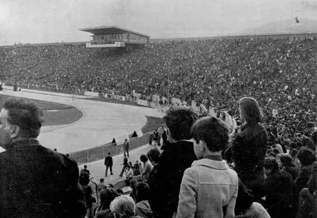 Koševski stadion pred utakmicu FK Sarajevo - FC Manchester United (1967)