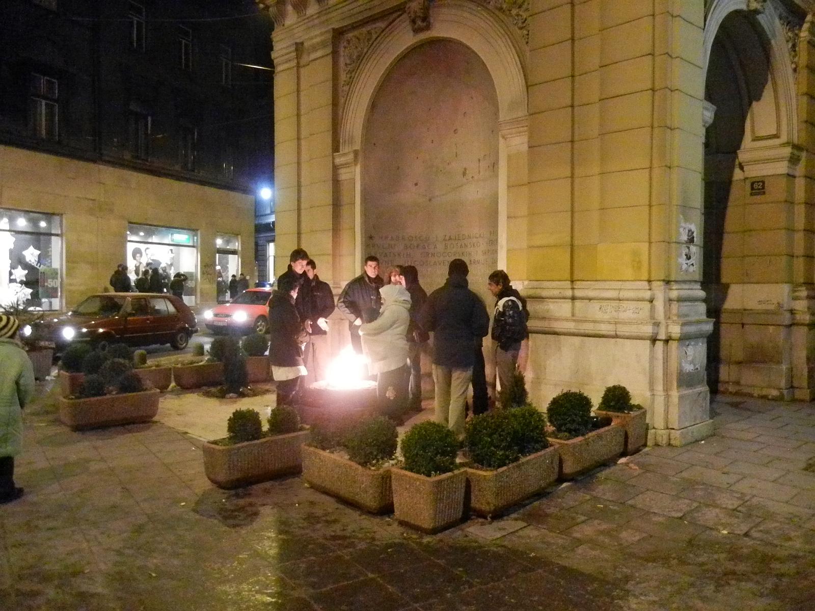 Vječna vatra: Spomenik oslobodiocima Sarajeva