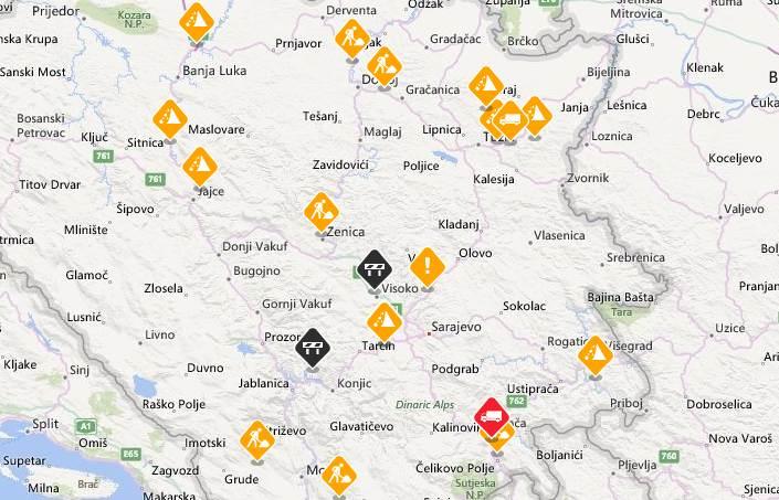 Stanje na putevima u Bosni i Hercegovini