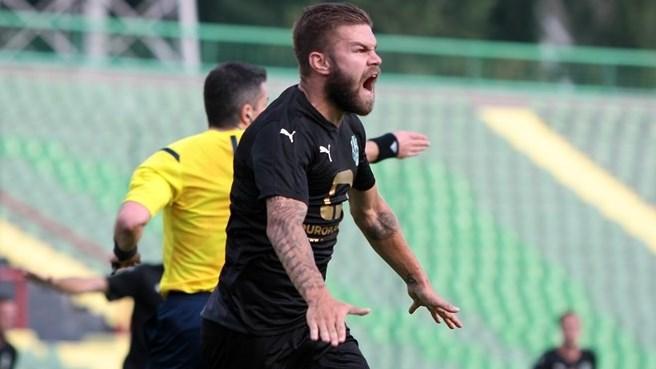 Dalibor Pandža je nakon postizanja gola za Olimpic (Sarajevo, 02. juli 2015)