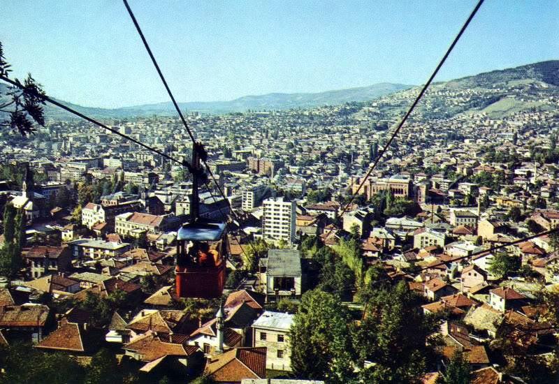 Trebevićka žičara osamdesetih godina 20. vijeka