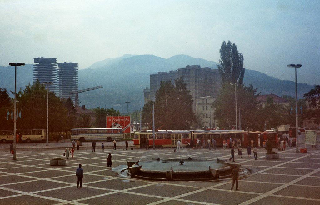 Sarajevo, 1983. godine: Pogled na Marindvor sa Željezničke stanice