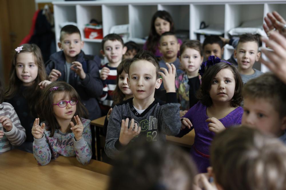 Zejd Ćoralić sa drugovima iz razreda