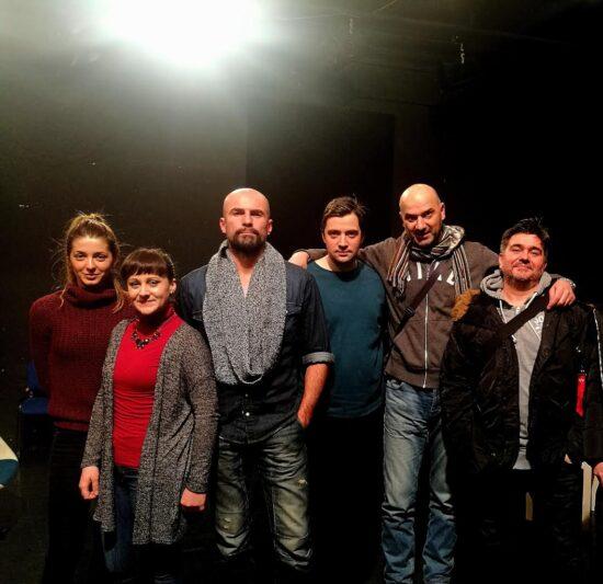 Ekipa predstave Leptir Narodnog pozorišta tokom priprema u januaru 2017. godine