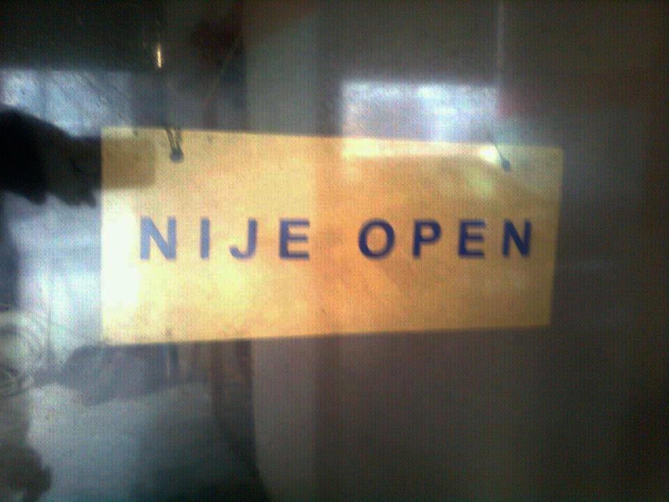 NIJE OPEN u Sarajevu