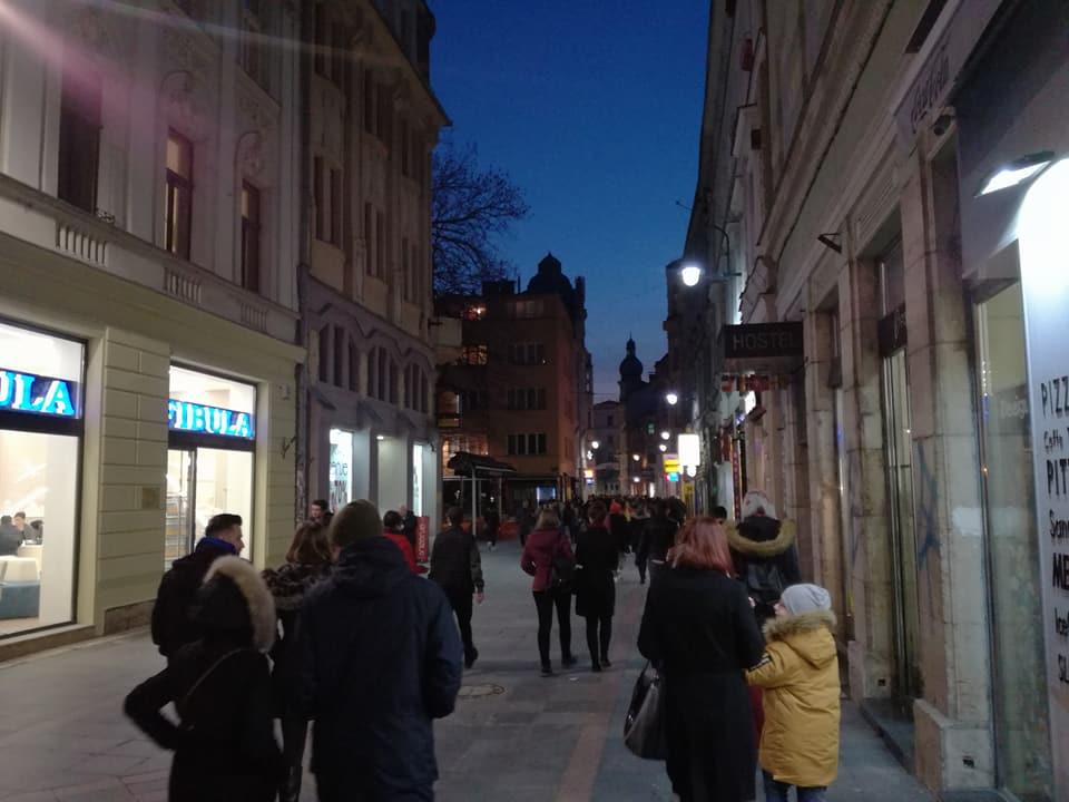 Ulica Ferhadija (Sarajevo, 28. mart 2018, foto: Naser Husic)