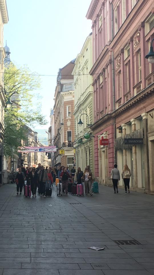 Ferhadija - u ovaj grad uvijek možeš doći ali iz njega nikad otići ne možeš (Sarajevo, 21. april 2018, foto: Alma Sarajlić)