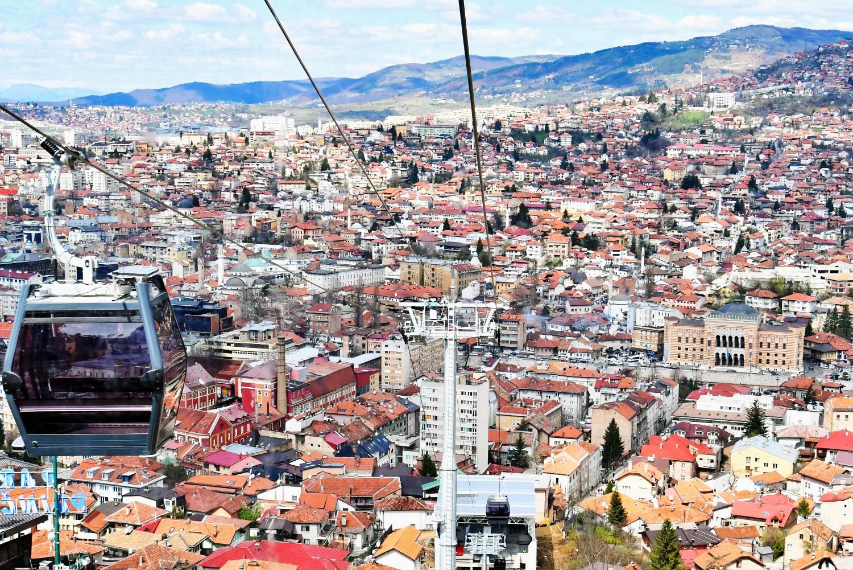 Pogled na Sarajevo iz žičare (2018)