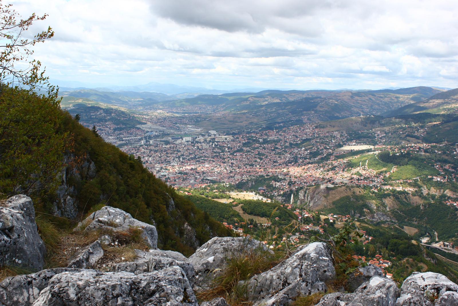 Sarajevo, pogled s Trebevića